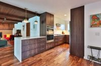 Modern Saddle Wood Kitchen Cabinets