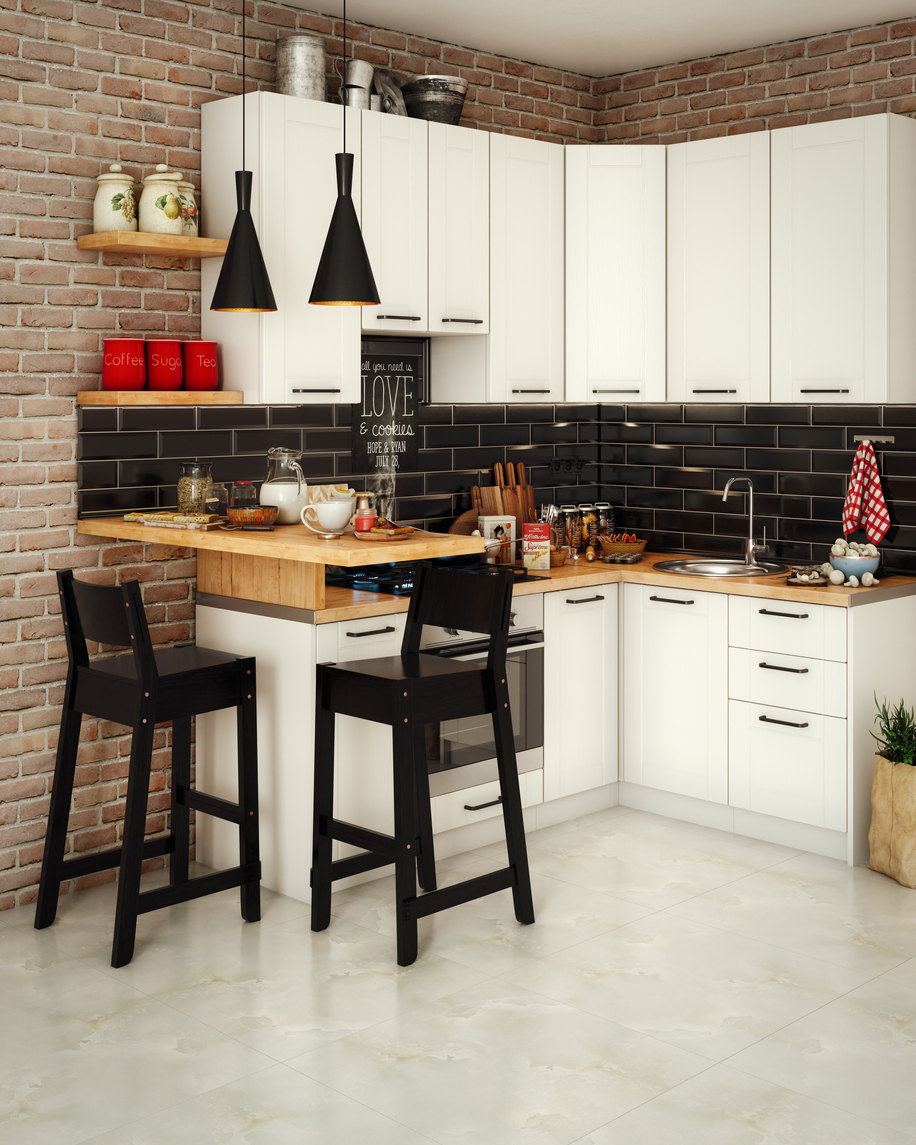 Small Domestic Kitchen Interior